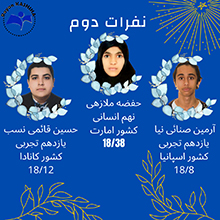 دانش آموزان برتر خرداد 99 مدرسه رایان کاشیها